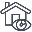 house, property, search, view icon