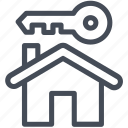 house, key, secure icon