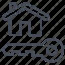 house, key, secure