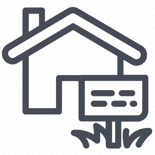 for sale, house, label icon