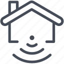 house, smart, wifi icon