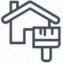 house, paint, renovation icon