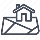 home, location, map, property icon