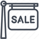 house, property, sale, sign icon