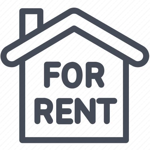for rent, home, house icon