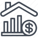 growth, market, price, real estate icon