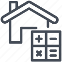 calculation, contract, house icon