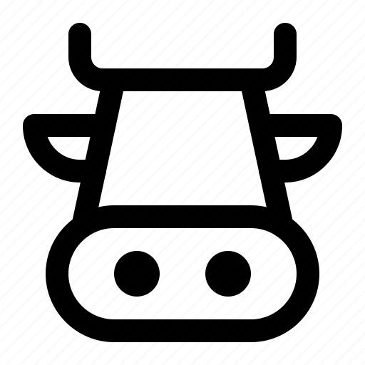 animal, catle, cow, cow face, domesticated, milk, ungulate icon