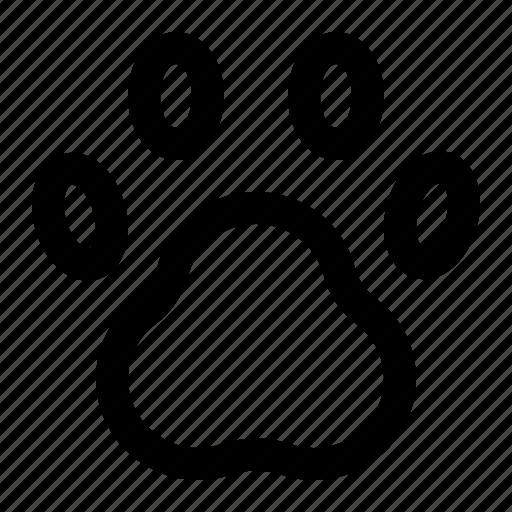 animal, animal foot, paw, paw print, pet, pet footprint, track icon
