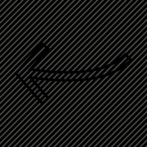 Arrow, arrow left, arrow pointing left icon