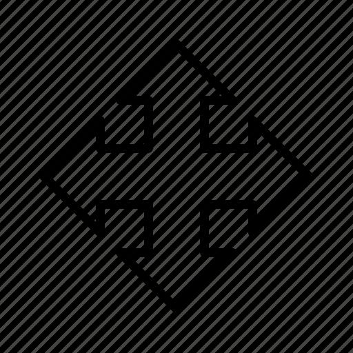 arrow, cursor, move, pick icon