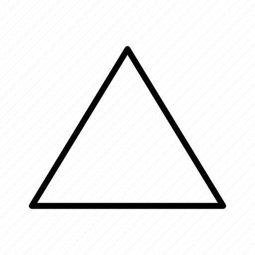 geometry, shape, triangle icon
