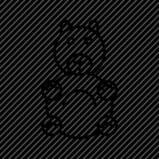 stuffed, toy icon