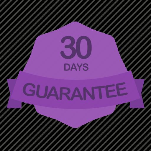 days, guarantee, label, period icon