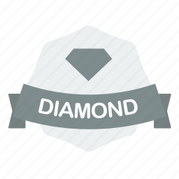 diamond, guarantee, label icon