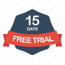 trial, guarantee, days, free, label