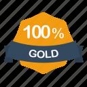 guarantee, percent, gold, label