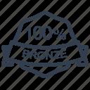 guarantee, percent, bronze, label