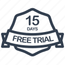 trial, guarantee, days, free, label