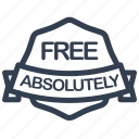 absolutely, free, guarantee, label