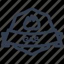 gas, guarantee, label