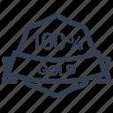 gold, guarantee, label, percent