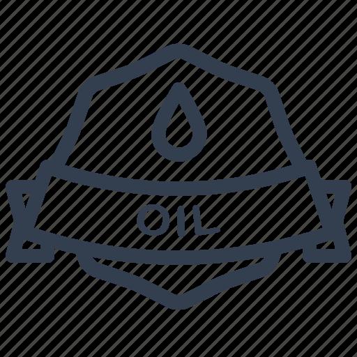guarantee, label, oil icon