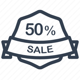 guarantee, label, percent, sale icon