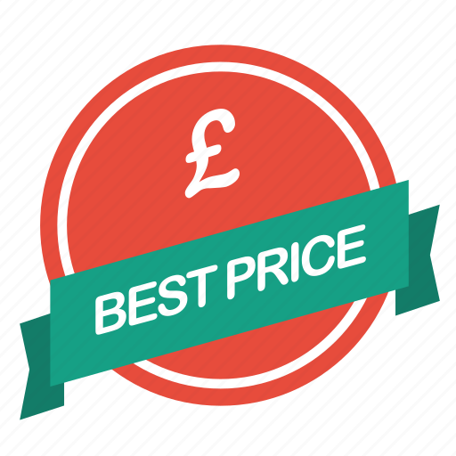 best, guarantee, label, pound, price icon