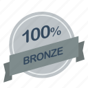 bronze, guarantee, label, percent icon