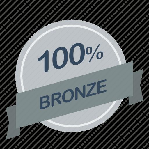 bronze, guarantee, label, percent icon