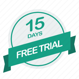 days, free, guarantee, label, trial icon