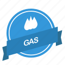 gas, guarantee, label icon