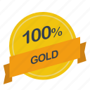 gold, guarantee, label, percent