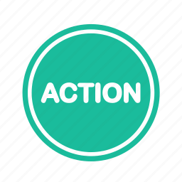 action, ribbon, shopping icon