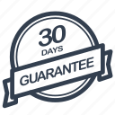 days, guarantee, label, period icon
