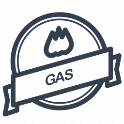 gas, guarantee, label icon