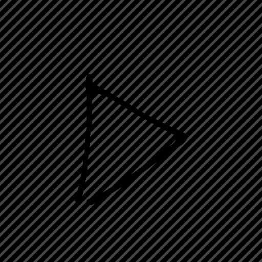 arrow, cartoon, comic, cursor, pointer, triangle icon