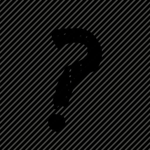 cartoon, comic, mark, question icon