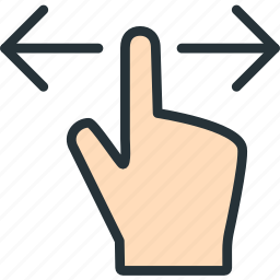 finger, gestures, left, right icon