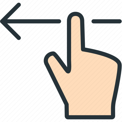 finger, gestures, left icon