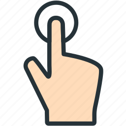 gestures, hold, tap icon