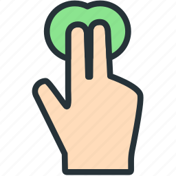 fingers, gestures, hold, tap icon