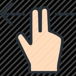 fingers, gestures, left icon