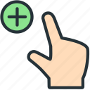 gestures, in, zoom icon