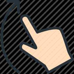 gestures, swipe, up icon