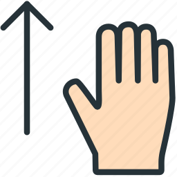 gestures, hand, up icon