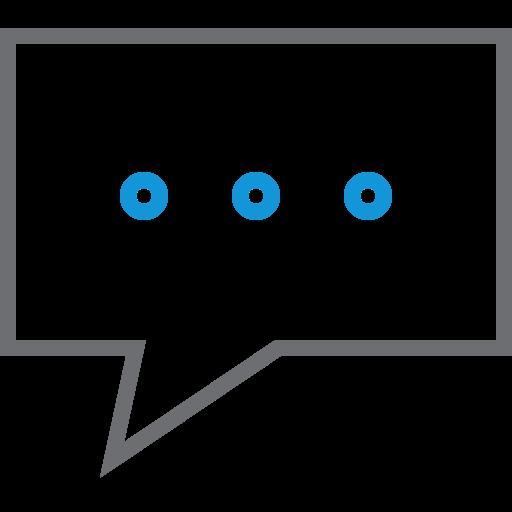 bubble, comment, conversation, dot, message, speech icon
