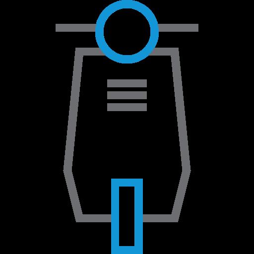 transportation, vehicle, vespa icon