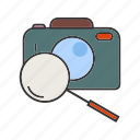camera, image, magnifier, photo, search icon
